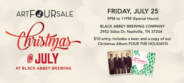 CHRISTMAS IN JULY at Black Abbey Brewing Company on Friday, July 25th